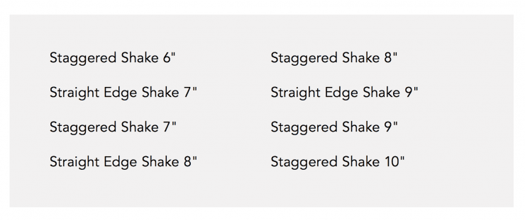 Shake Profiles